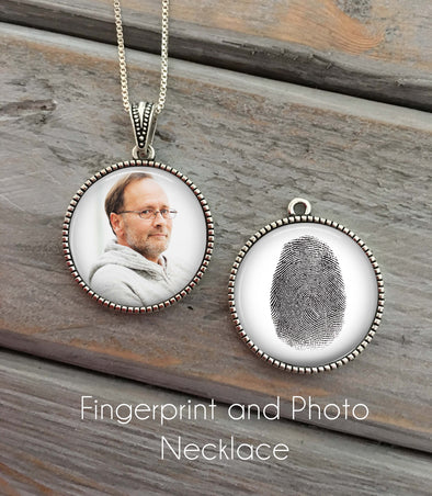Fingerprint and Photo Necklace