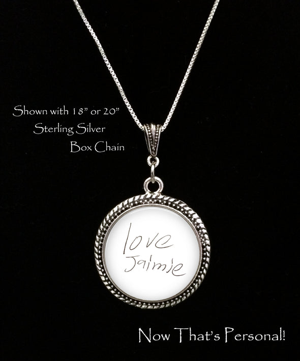 Custom Handwriting necklace - Child's Handwriting -YOUR Loved ones Handwriting or signature - Loved Ones Handwriting - handwriting charm - Jill Campa Designs - Now That's Personal!  - 2