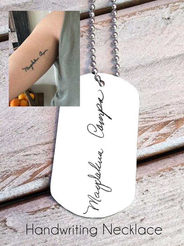 Handwriting Necklace - Your actual handwriting