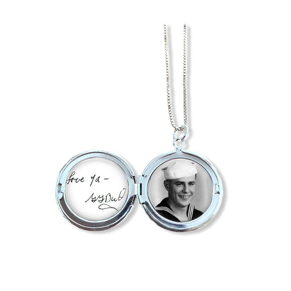 Photo and Handwriting Locket with optional engraving