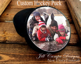 Custom Photo Hockey Puck - your photo on a hockey puck - Jill Campa Designs - Now That's Personal!  - 1