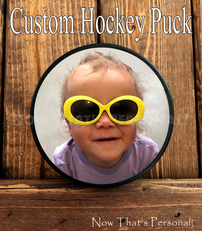 Custom Photo Hockey Puck - your photo on a hockey puck