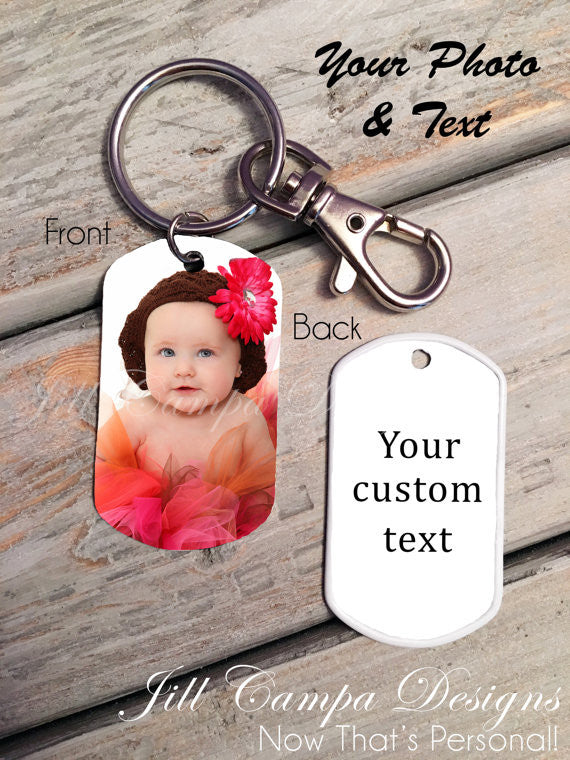Personalized Dog Tag Key Chain