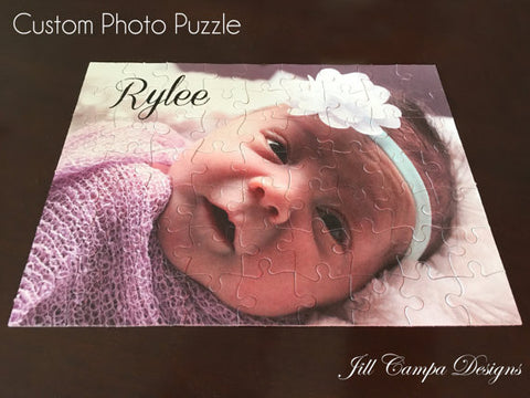 Personalized Photo Puzzle with Text option