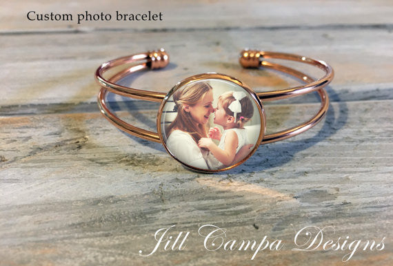Personalized Photo Cuff Bracelet