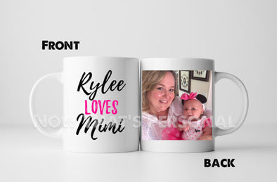 Personalized NEW GRANDMA coffee mug