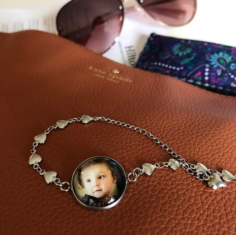Photo charm bracelet - bracelet for new Mommy, mom, grandma