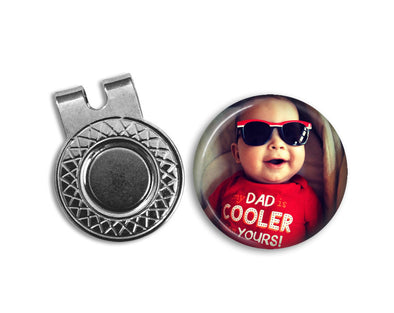 CUSTOM PHOTO Magnetic Golf Ball Marker & hat clip set - golf ball marker - Your Photo on a Golf Ball Marker - Gift for golfer - gift for Dad - Jill Campa Designs - Now That's Personal!  - 1