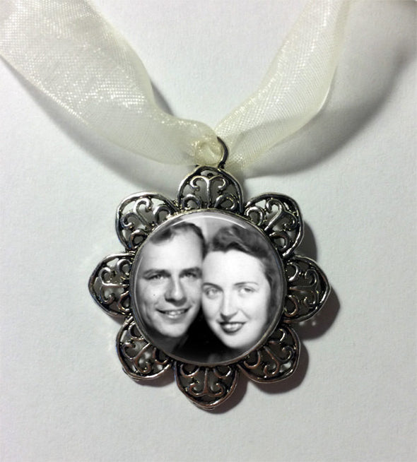 CUSTOM Photo Wedding Bouquet Charm - Your Photo on a wedding bouquet charm - Bridal Charm - Bridal Bouquet Charm -  In Memory Charm - Jill Campa Designs - Now That's Personal!  - 2