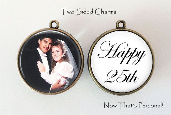 CUSTOM Photo and Text Pendant - 2 sided  - YOUR Photo on front and YOUR Text on back - Photo necklace - custom photo pendant - word necklace - Jill Campa Designs - Now That's Personal!  - 1