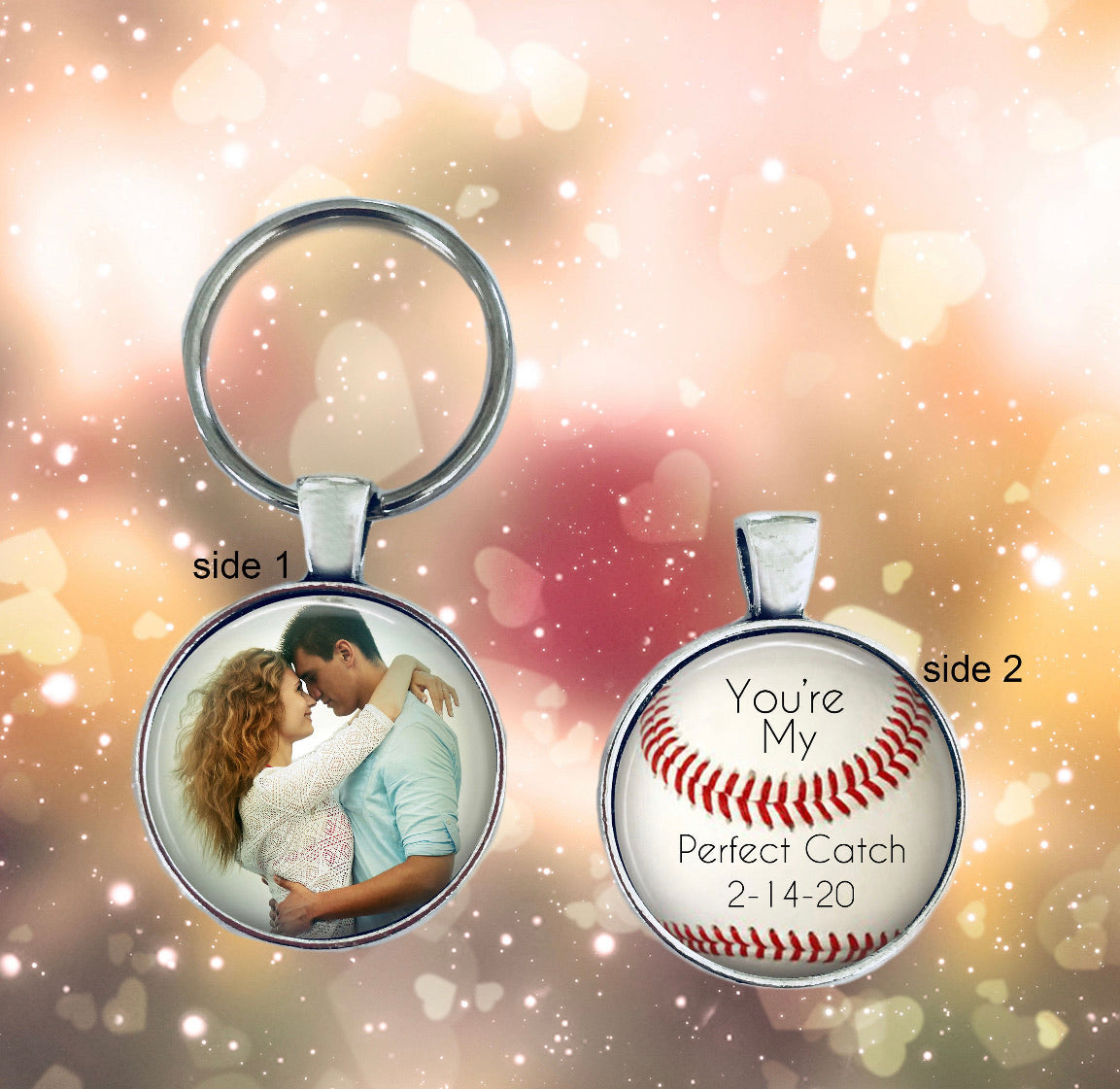 Personalized 2 Sided Christmas Ornament Baseball Themed with your photo