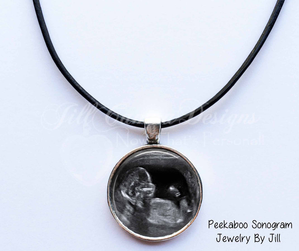 Baby Sonogram necklace for Dad - Baby Sonogram Jewelry - Jill Campa Designs - Now That's Personal!