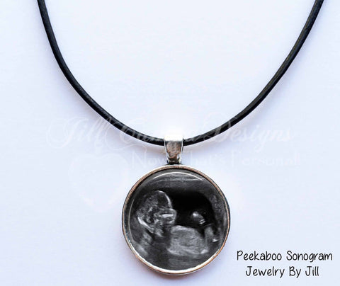 Baby Sonogram necklace for Dad - Baby Sonogram Jewelry