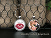 Kiss Print and Photo keychain - Your actual kiss print