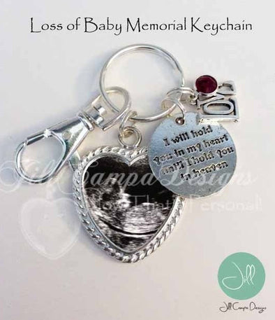 Sonogram keychain - Loss of Baby - Baby memorial - Jill Campa Designs - Now That's Personal!