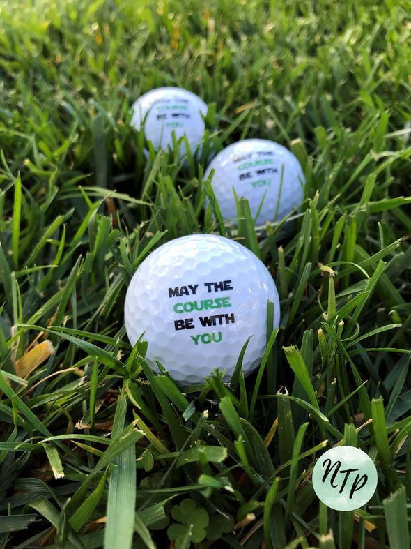 May the Course be with you golf balls - set of 3