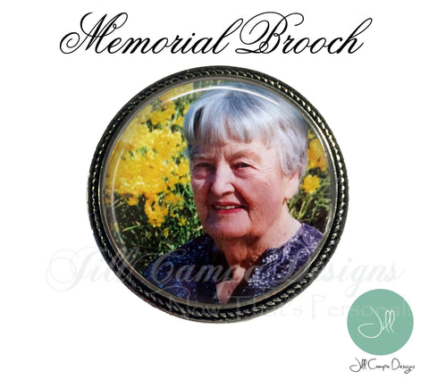 Memorial  Photo Brooch
