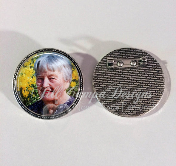 Memorial  Photo Brooch - Jill Campa Designs - Now That's Personal!  - 2