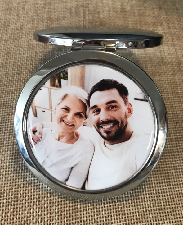 Photo Compact Mirror with optional engraving