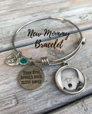 Personalized New Mom Charm Bracelet