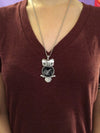 Baby SONOGRAM owl necklace