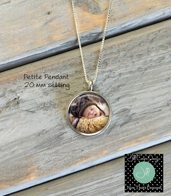 Petite Sonogram Necklace, Baby Photo Pendant - Pregnancy Gift - Baby Shower Gift - Jill Campa Designs - Now That's Personal!  - 3