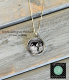 Petite Sonogram Necklace, Ultrasound Photo - Pregnancy Gift - Baby Shower Gift - Jill Campa Designs - Now That's Personal!  - 1