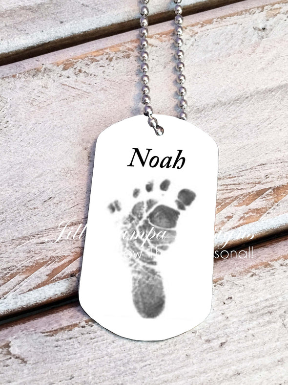 Baby Footprint key chain - Custom Dog Tag necklace - Jill Campa Designs - Now That's Personal!  - 2