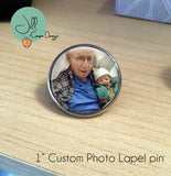 Memorial Lapel pin - In Memory of - custom photo memorial pin - Jill Campa Designs - Now That's Personal!  - 2