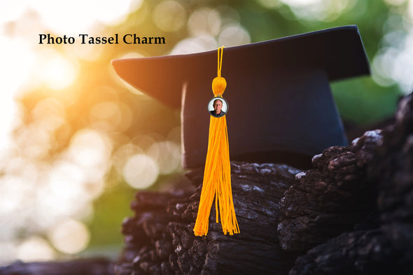Photo Tassel Charm for graduation cap
