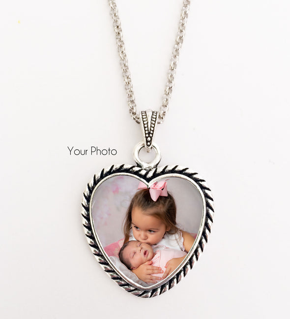 Photo Heart Necklace