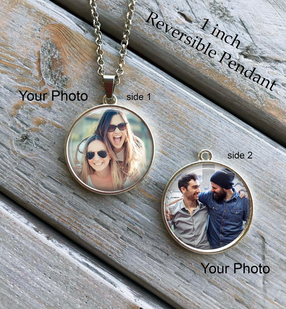 PHOTO NECKLACE - 2 photo necklace, your own photos