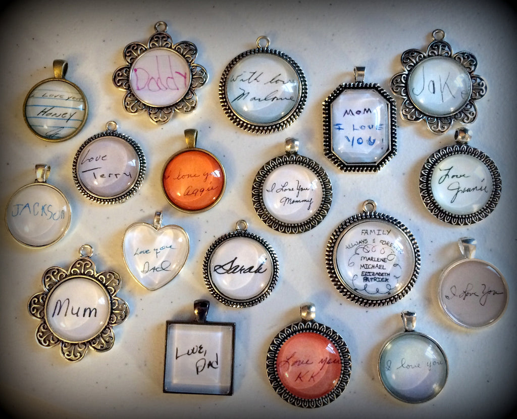 YOUR Loved ones Handwriting or signature - SQUARE bezel - Jill Campa Designs - Now That's Personal!