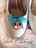 SET of 2 memorial photo wedding shoe charms - bridal bouquet charm - Jill Campa Designs - Now That's Personal!  - 2