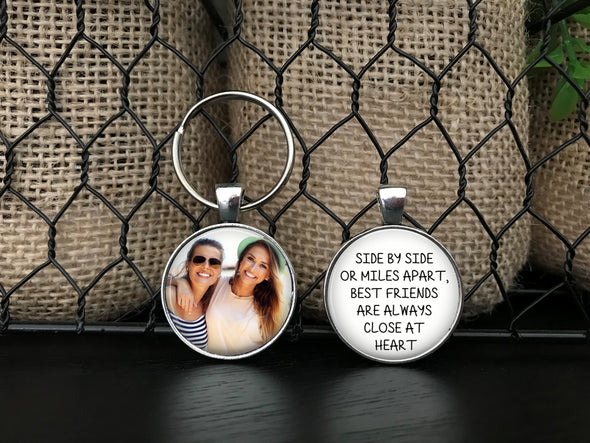 Personalized Double Sided Best Friends Photo Key Chain