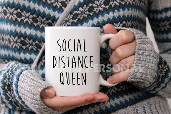 Coffee Mug - SOCIAL DISTANCE QUEEN