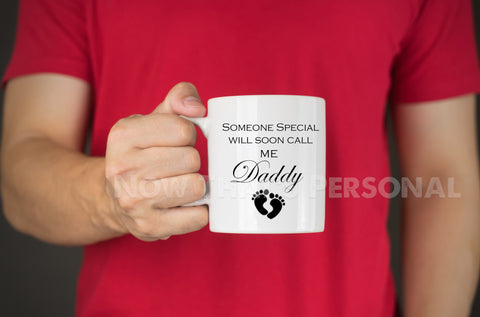 Personalized FUTURE DADDY coffee mug
