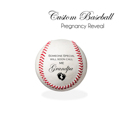 PREGNANCY ANNOUNCEMENT - Personalized Baseball, baby announcement