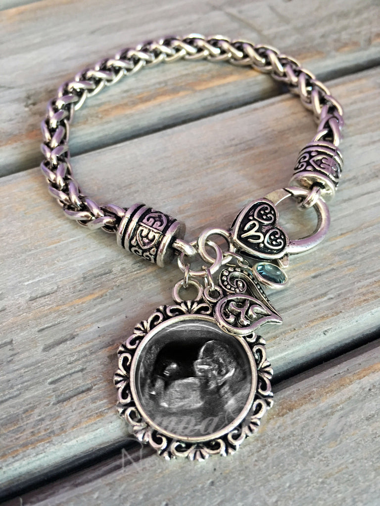 Baby Sonogram charm bracelet - bracelet for new Mommy, Mommy-to-be - Jill Campa Designs - Now That's Personal!