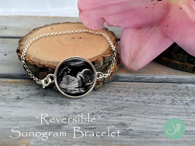 Baby Sonogram bracelet - reversible sonogram bracelet - Jill Campa Designs - Now That's Personal!