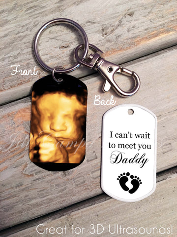Sonogram keychain - custom sonogram dog tag