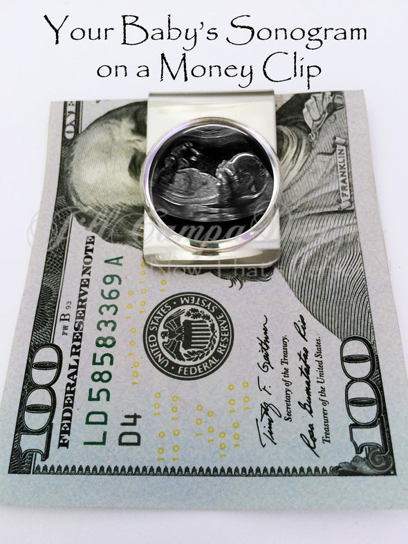 Baby Sonogram Money Clip - Jill Campa Designs - Now That's Personal!