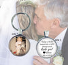 FATHER of the BRIDE GIFT - double sided keychain