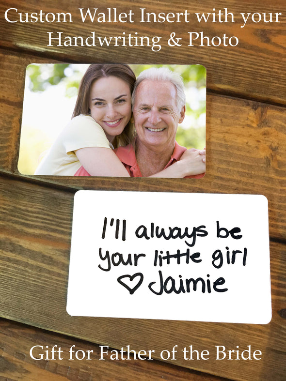 Personalized Photo & Handwriting Wallet Insert Card