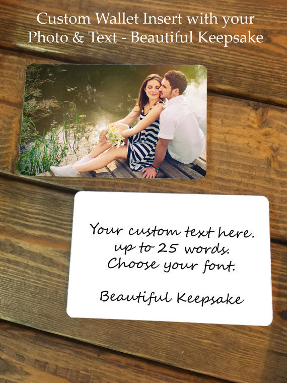 Personalize Photo and Text Mother of the Bride Wallet Insert Card