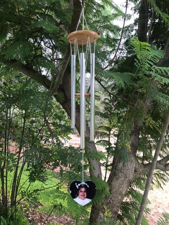 Photo and Handwritten Memorial Wind Chime