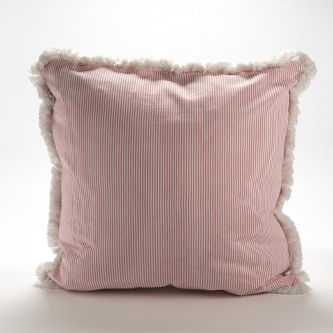 Pink Ticking Stripe Pillow