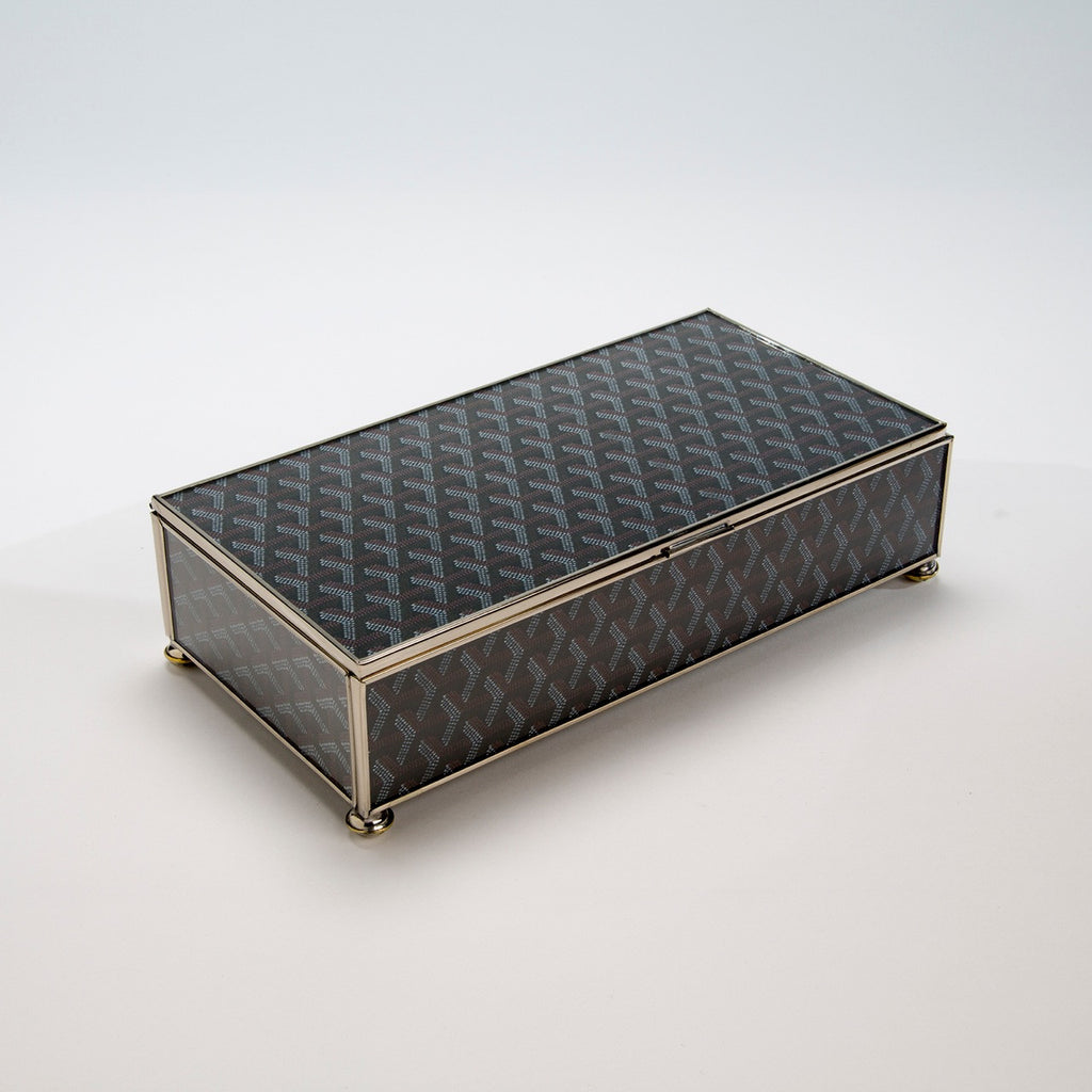 Goyard Inspired Storage Box — Medium