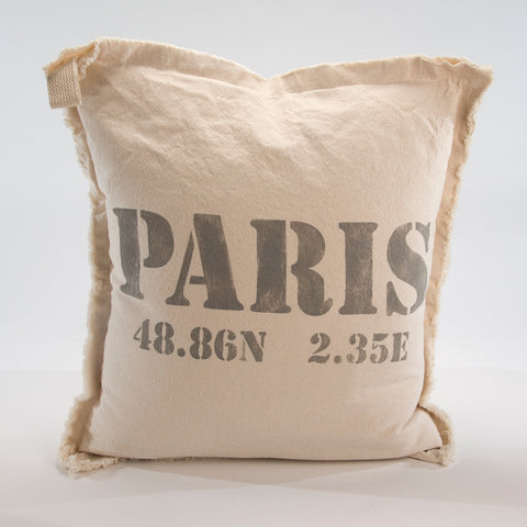 PARIS Canvas Pillow