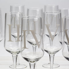 Numbered Champagne Flutes — Set of 12